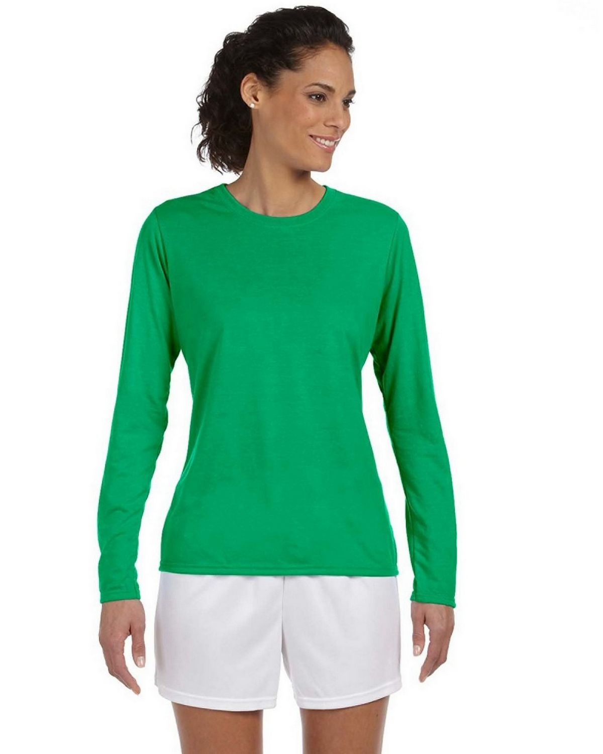 Gildan G424L Performance Long Sleeve T Shirt - White - S G424L