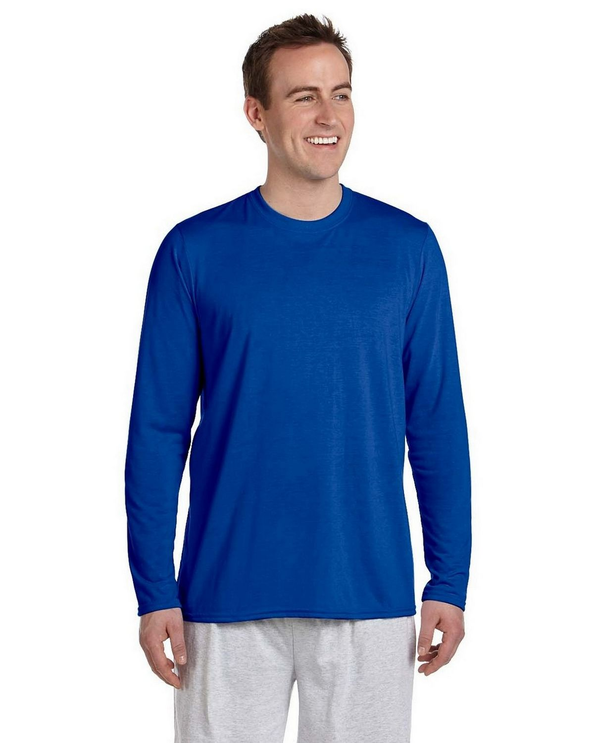 Gildan G424 Performance Long Sleeve T Shirt - Royal - M G424