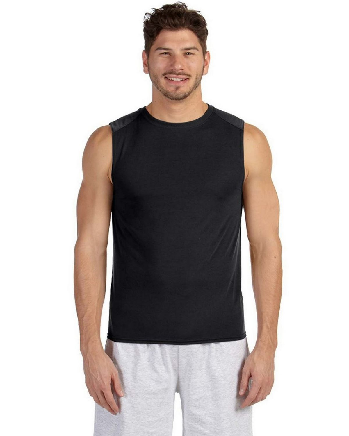 Gildan G427 Performance Sleeveless T Shirt - Black - L G427