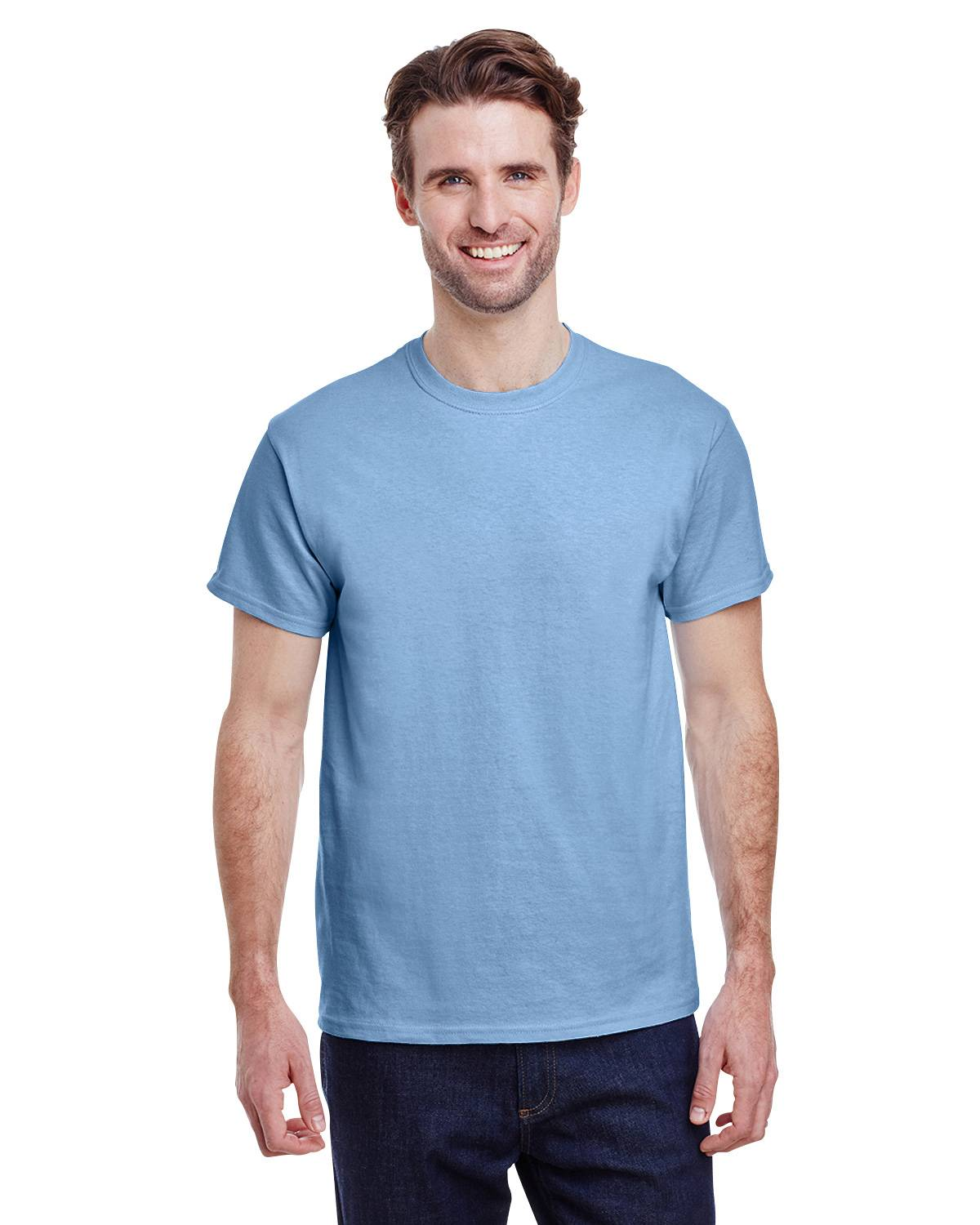 Gildan G5000 Short Sleeve Tee - Light Blue - XL G5000