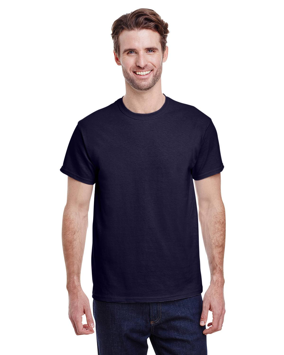 Gildan G5000 Short Sleeve Tee - Navy - XL G5000