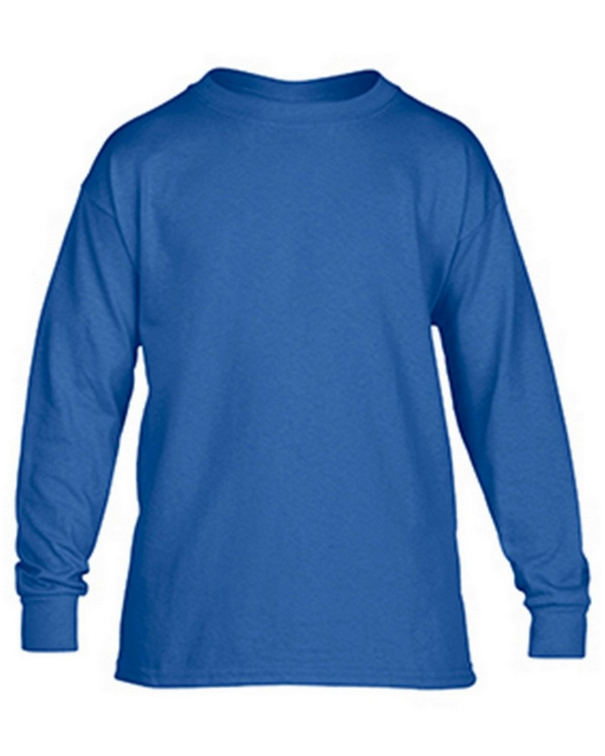 Gildan G5400B Youth Long Sleeve Tee - Royal - M G5400B