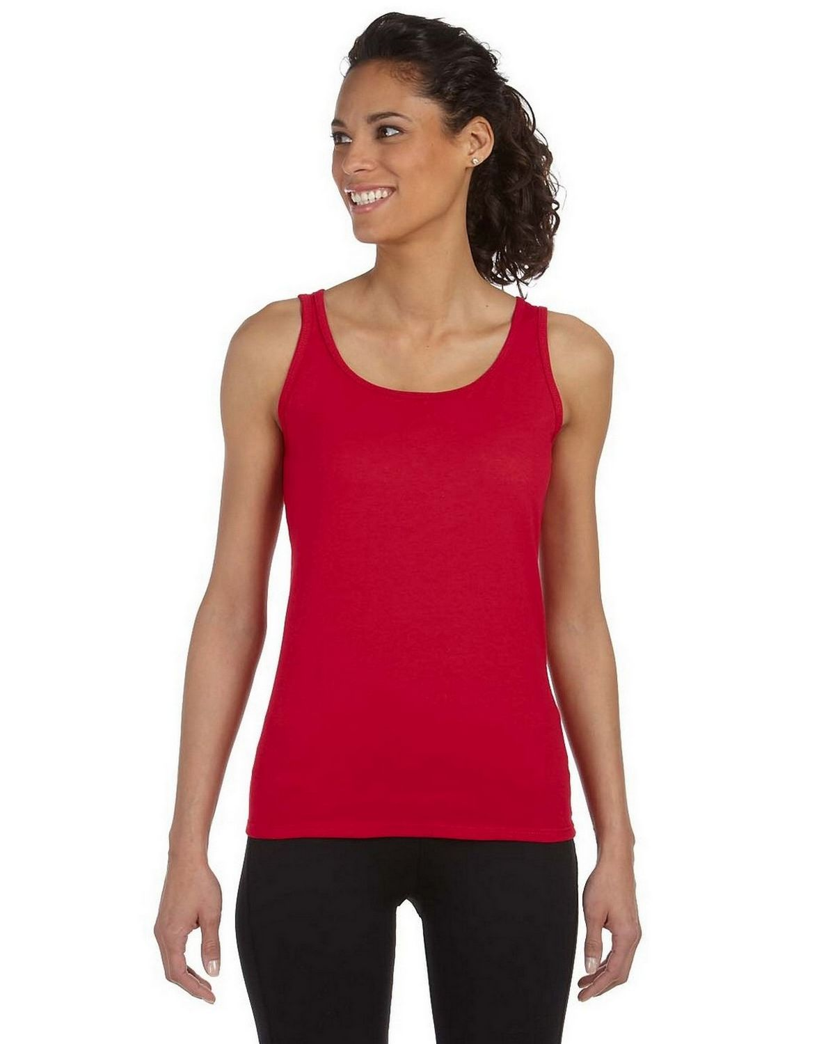 Gildan G642L Ladies SoftStyle Junior Fit Tank Top - Cherry Red - L G642L