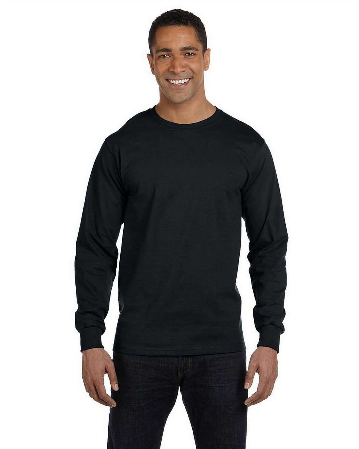 Gildan G8400 Long Sleeve Tee - Black - L G8400