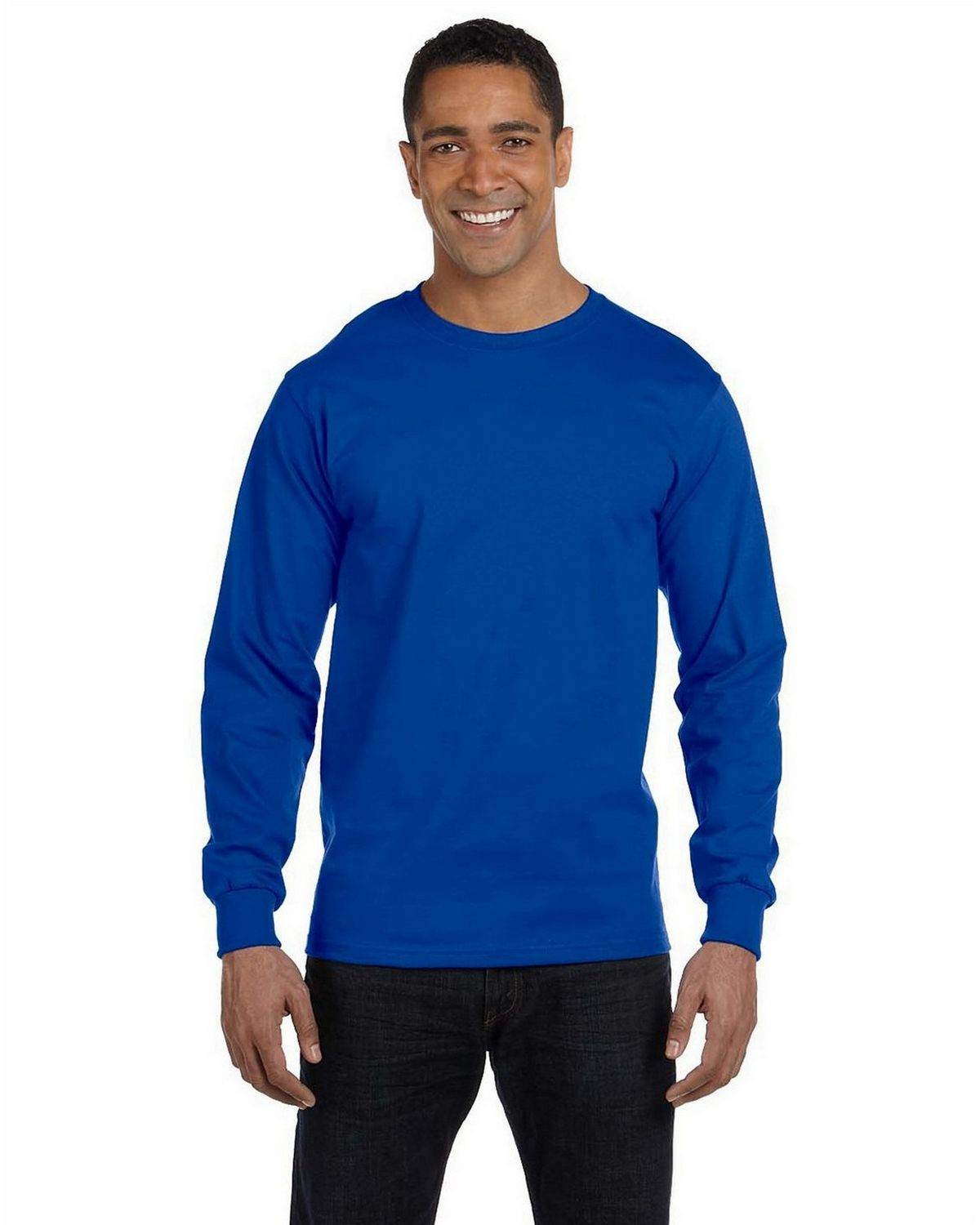 Gildan G8400 Long Sleeve Tee - Royal - M G8400