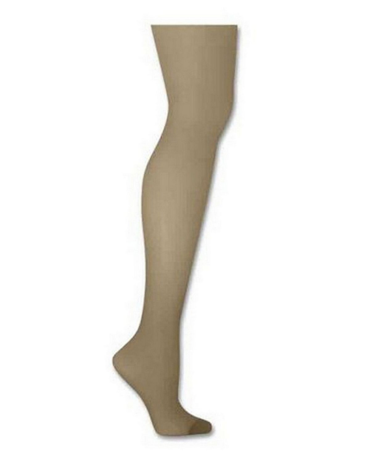 Hanes 00718 Silk Reflections Control Top Reinforced Toe Pantyhose - Natural - CD 00718