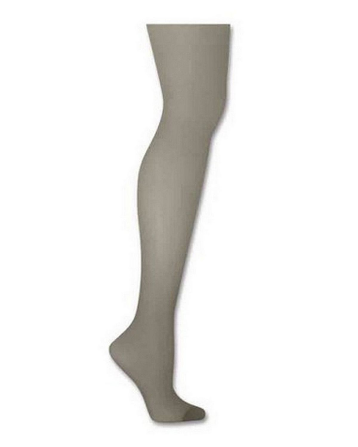 Hanes 00718 Silk Reflections Control Top Reinforced Toe Pantyhose - Quicksilver - AB 00718