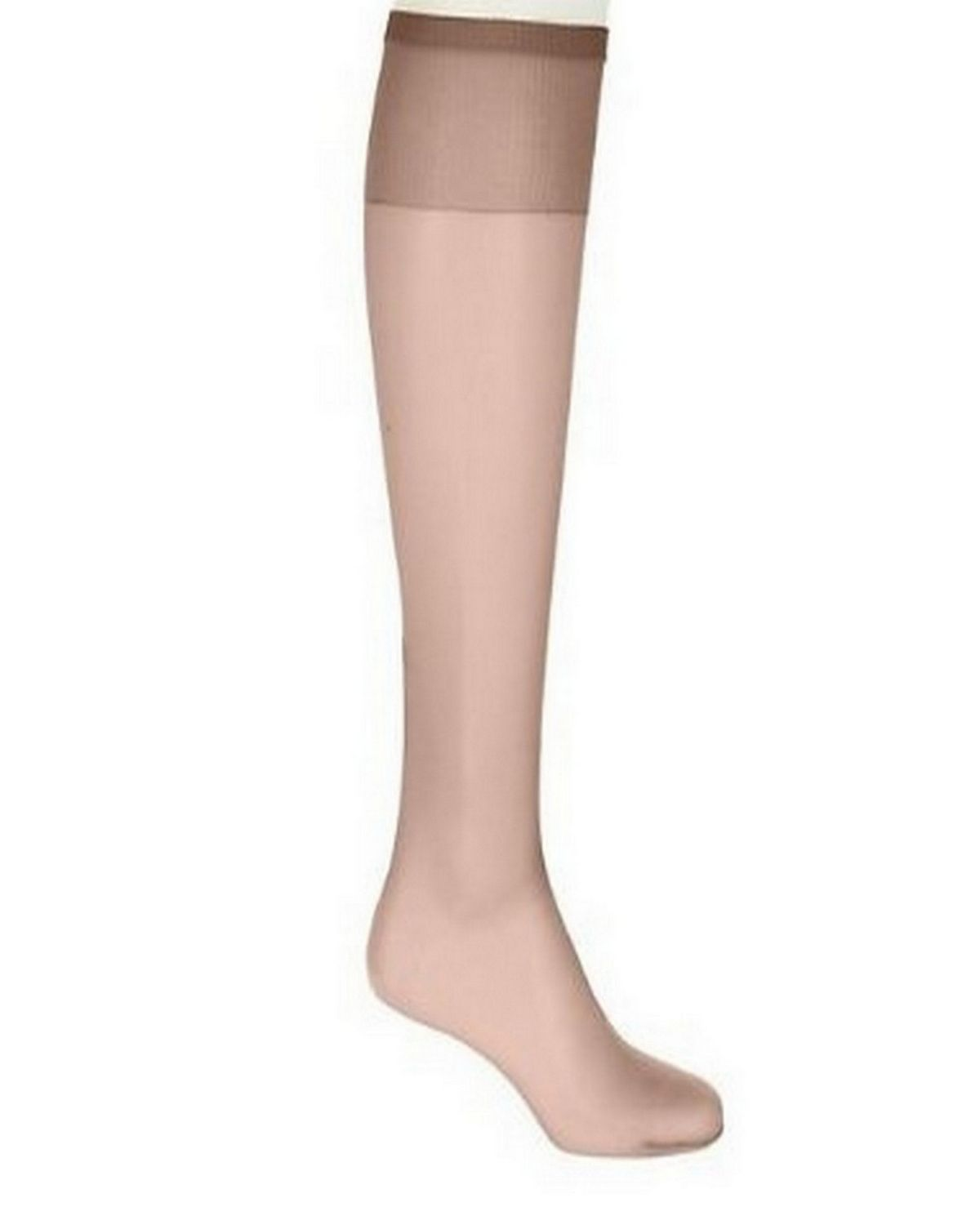 Hanes 00P19 Women's Silk Reflections Plus Silky Sheer Knee High ET - Barely There - One Size #silk