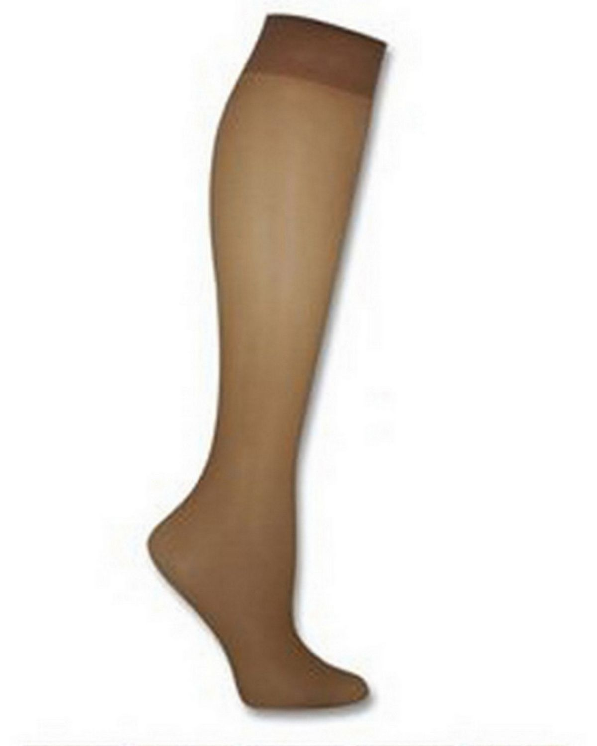 Hanes 00P19 Women's Silk Reflections Plus Silky Sheer Knee High ET - Jet - One Size #silk