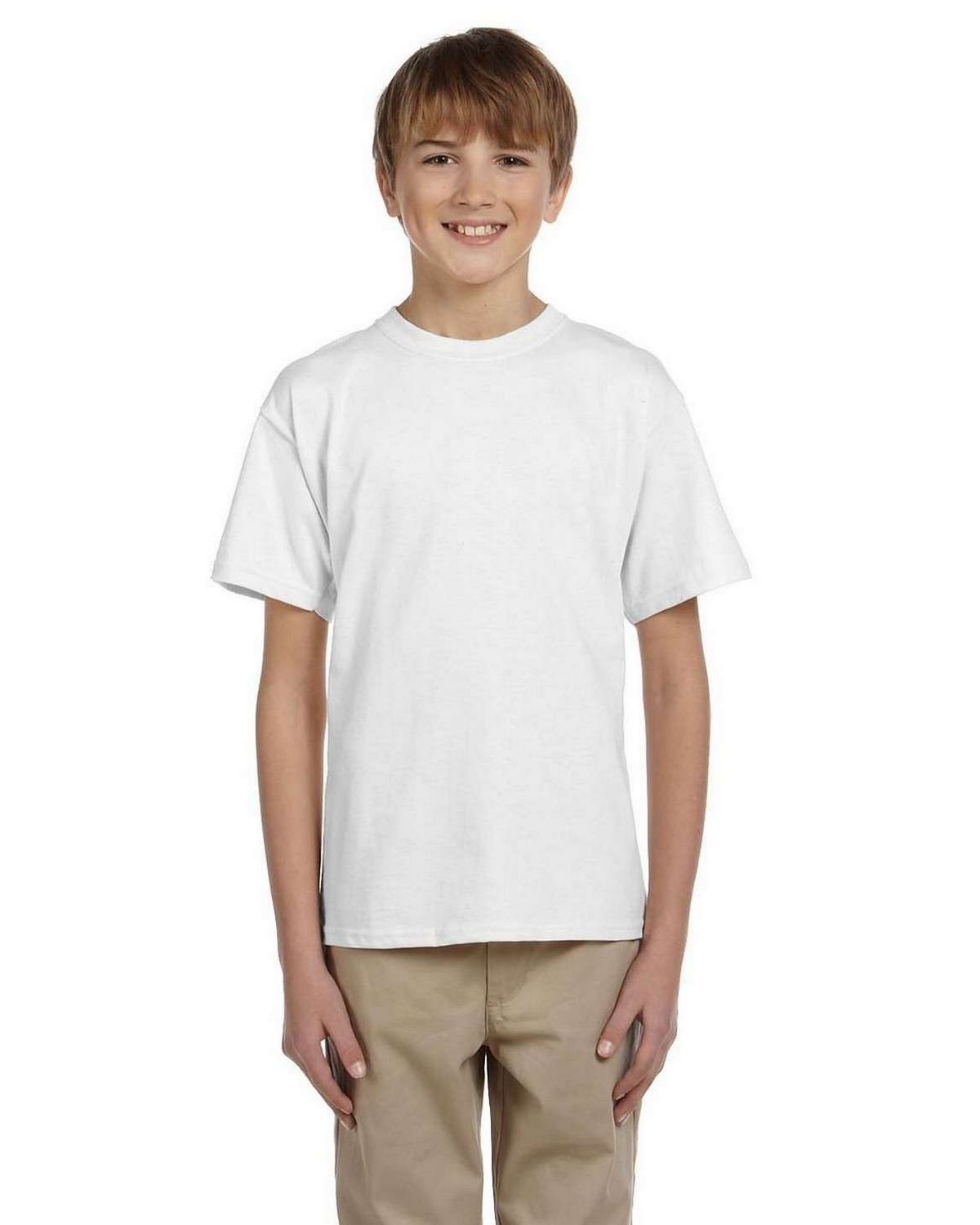 Hanes 5370 Youth 50/50 ComfortBlend EcoSmart T Shirt ...
