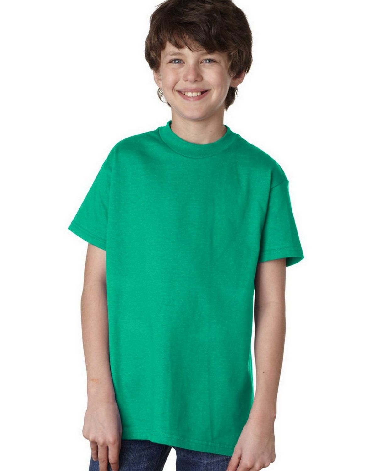 Hanes 5450 100% Youth Cotton Comfort Tee - Kelly - L 5450