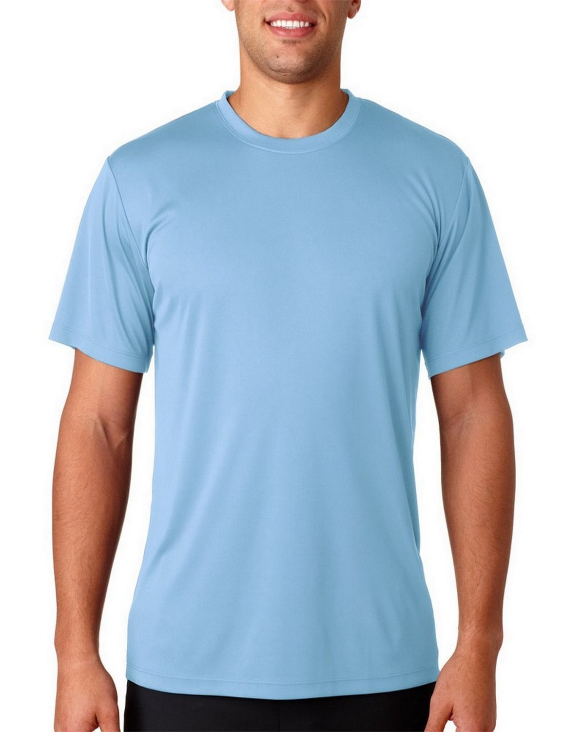 Hanes H4820 Tagless Performance Tee - Light Blue - XS H4820