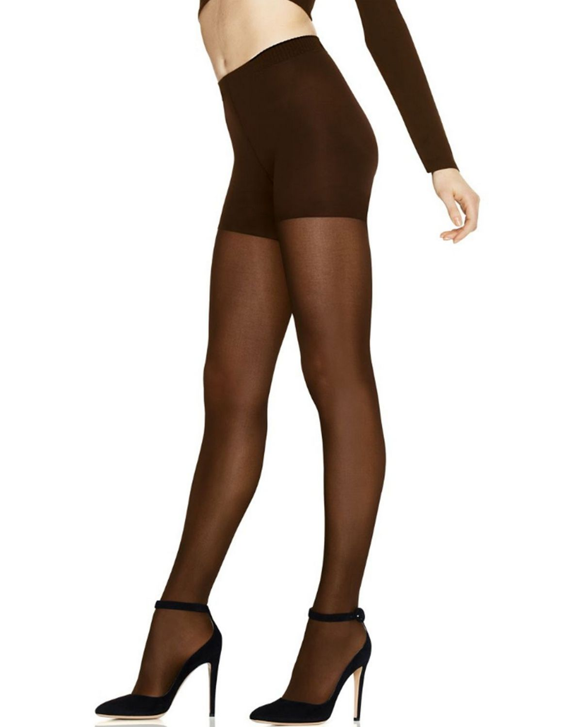 Hanes HST003 Womens Perfect Tight Opaque - Coffee - XS HST003