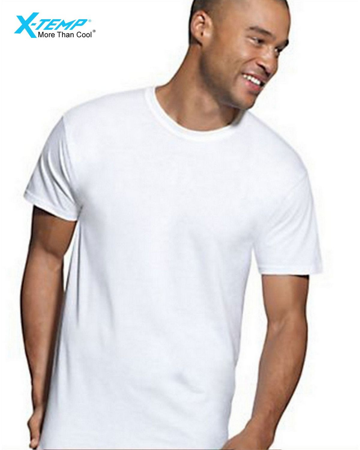 Hanes MTT1W3 Mens X-Temp Active Cool White Crewneck 3-Pack - White - L MTT1W3