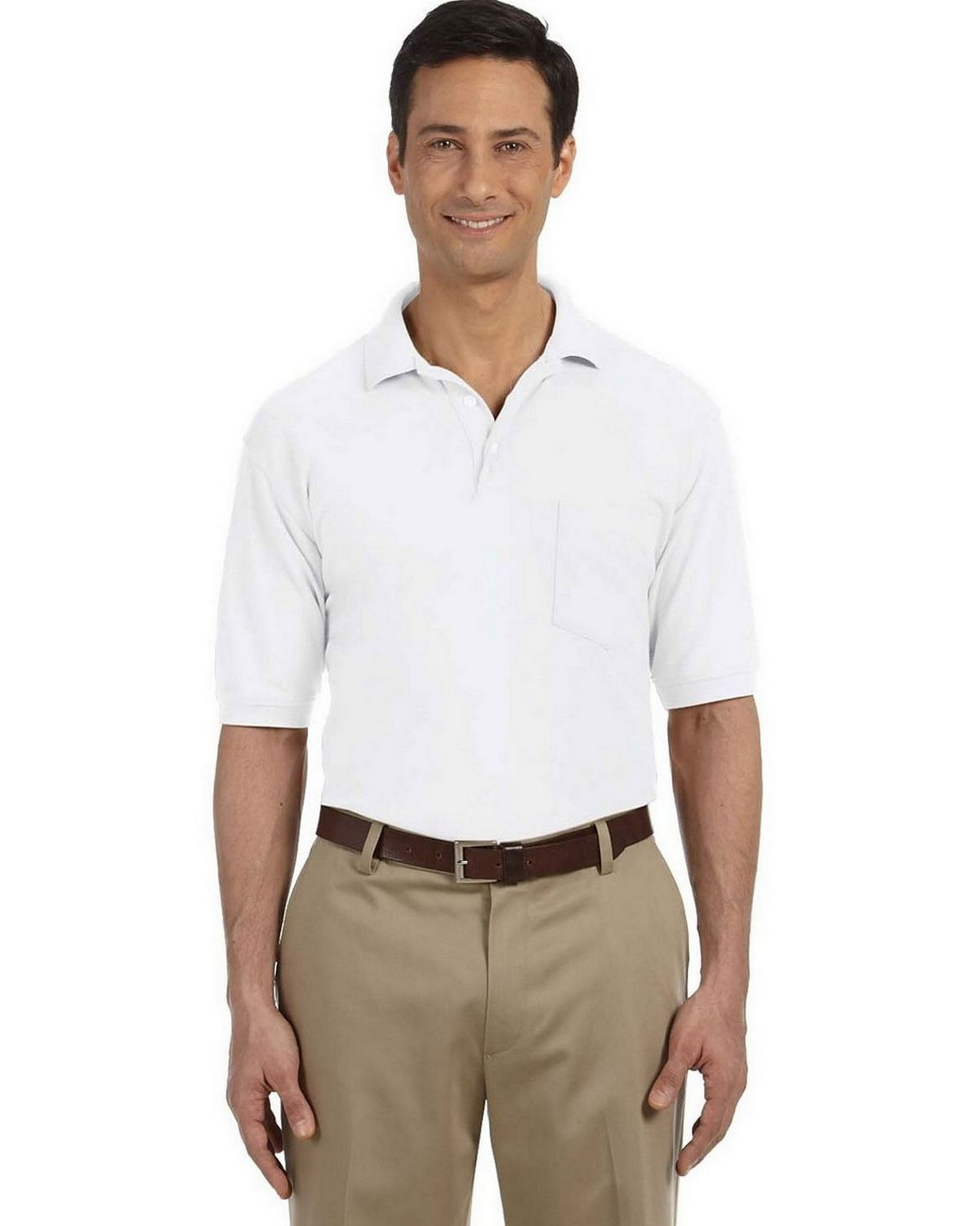 ca132310 Buy Harriton M265P Mens Easy Blend Polo with Pocket