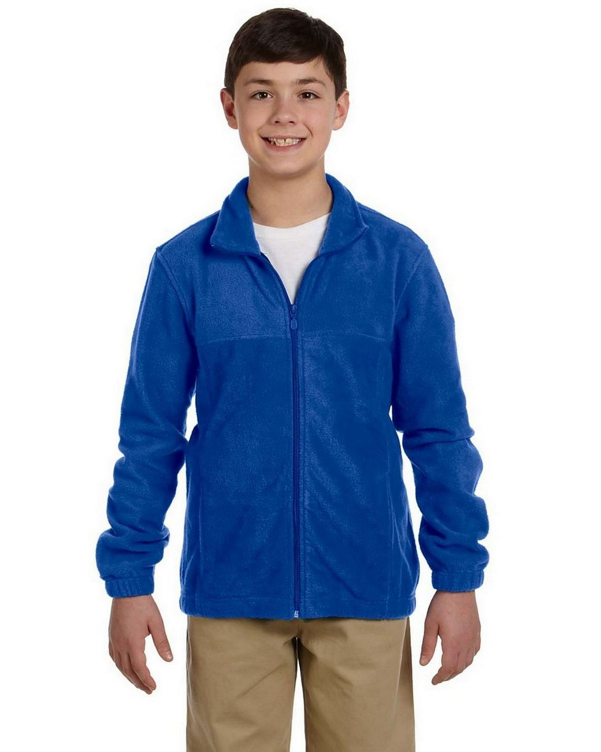 Harriton youth M990Y Full-Zip Fleece - True Royal - S M990Y