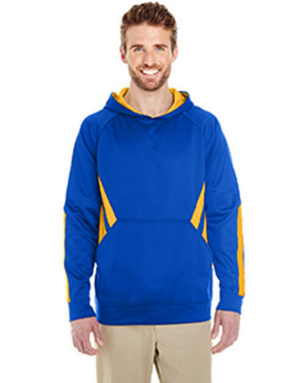 Holloway 222533 Argon Hoodie - Royal/Light Gold - XL 222533