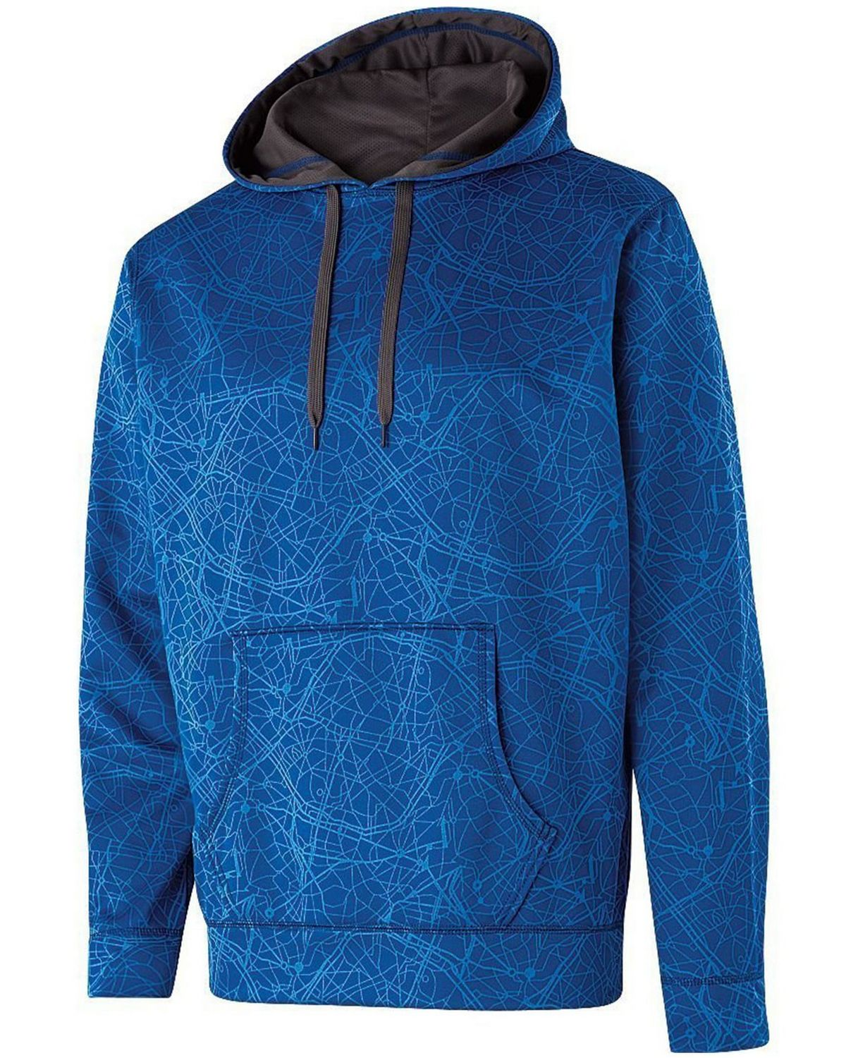 Holloway 222534 Adult Polyester Performance Hoodie - Royal - L 222534