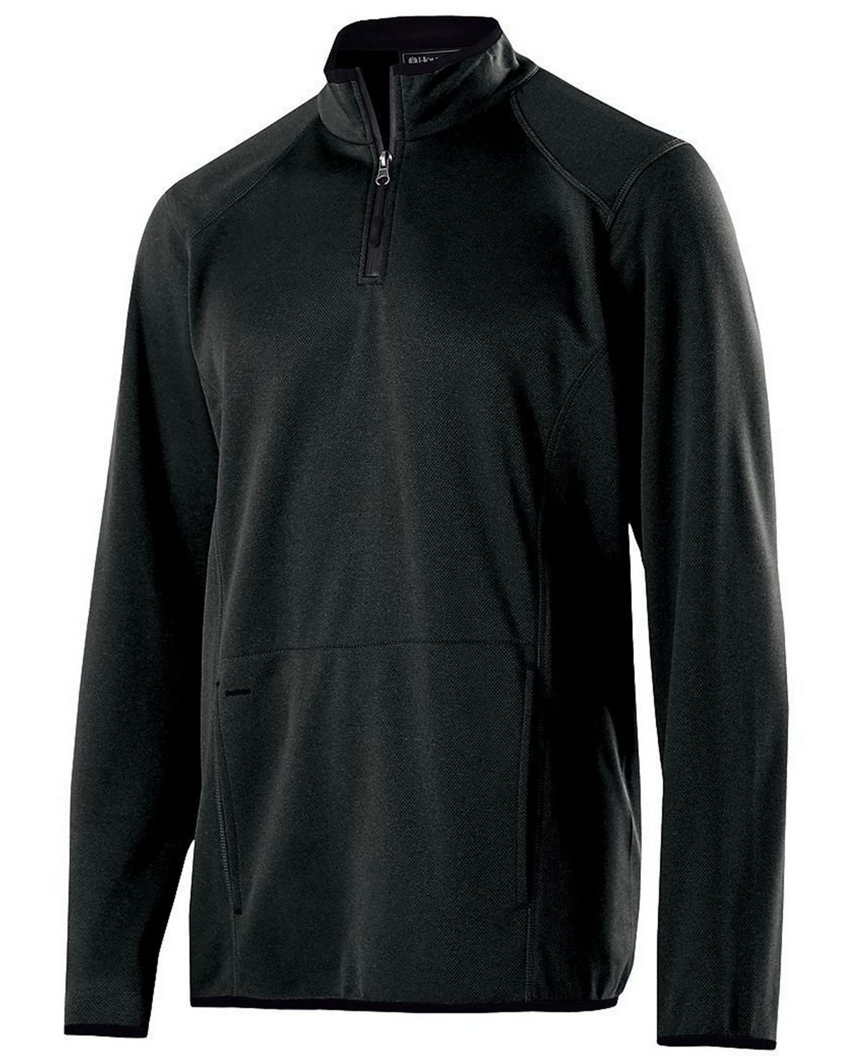 Holloway 229176 Adult Polyester Fleece Pullover - Black Heather - XS 229176