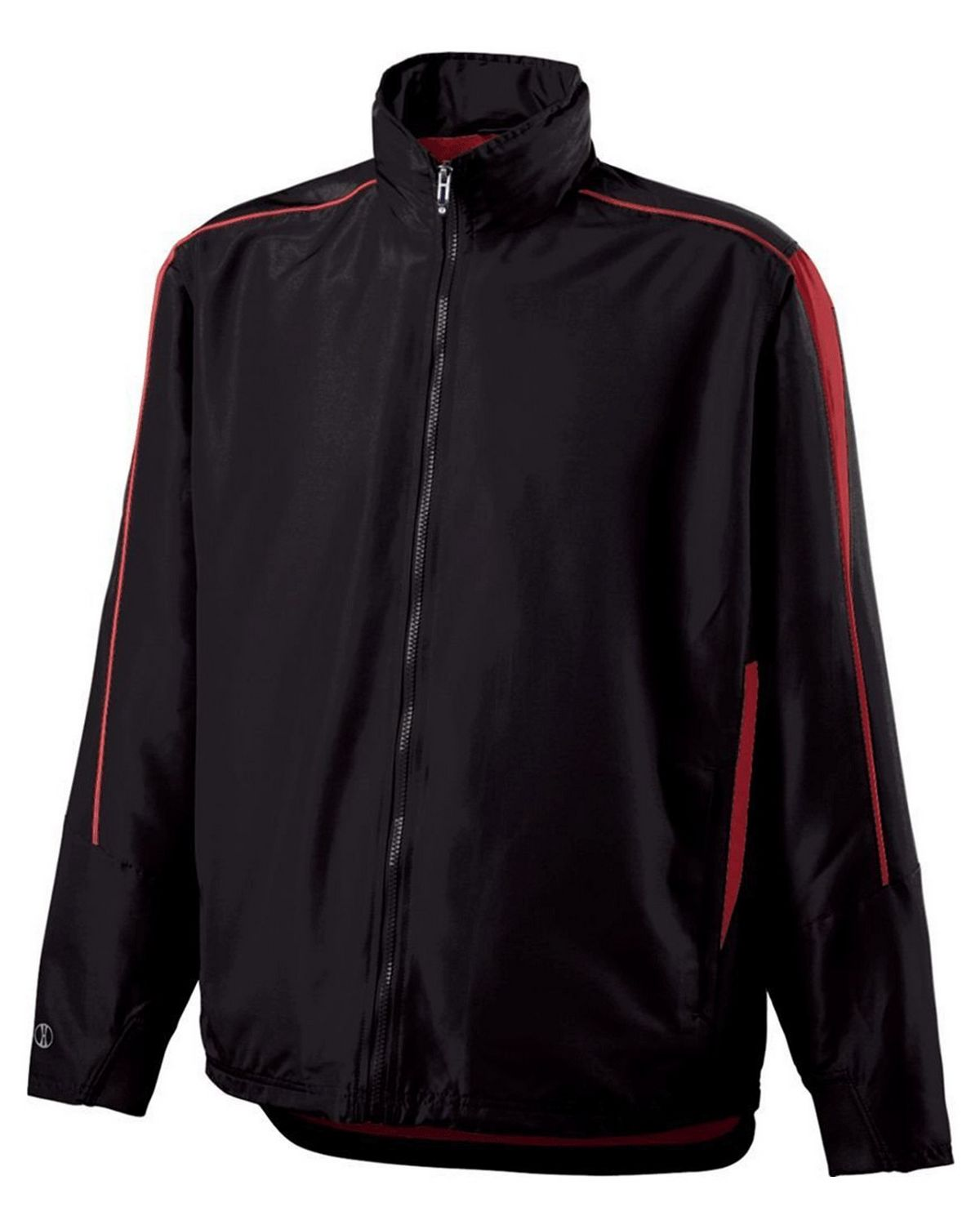 Holloway 229262 Youth Polyester Full Zip Jacket - Black/Orange - S 229262