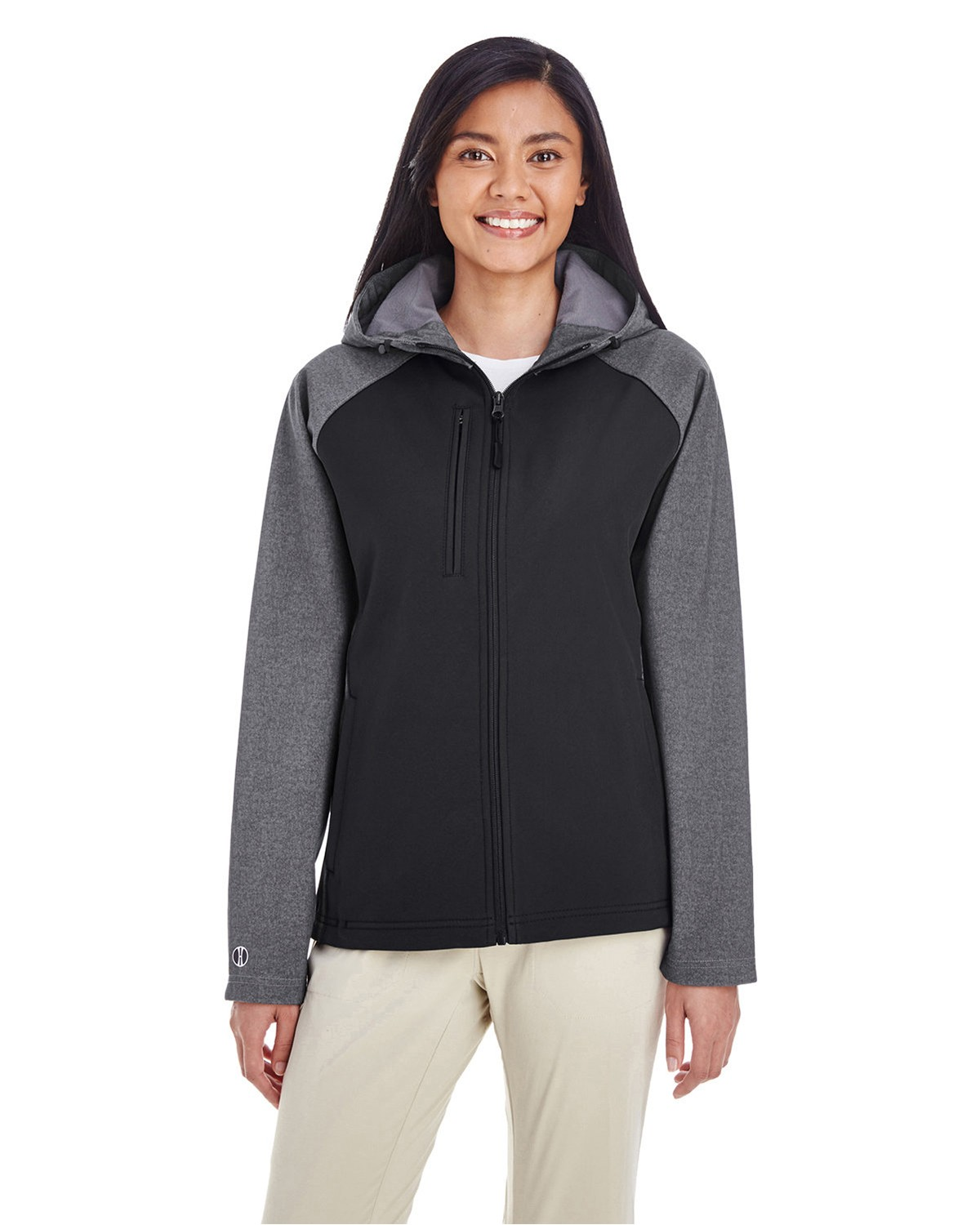 Holloway 229357 Raider Soft Shell Jacket - Carbon Print/Black - S 229357