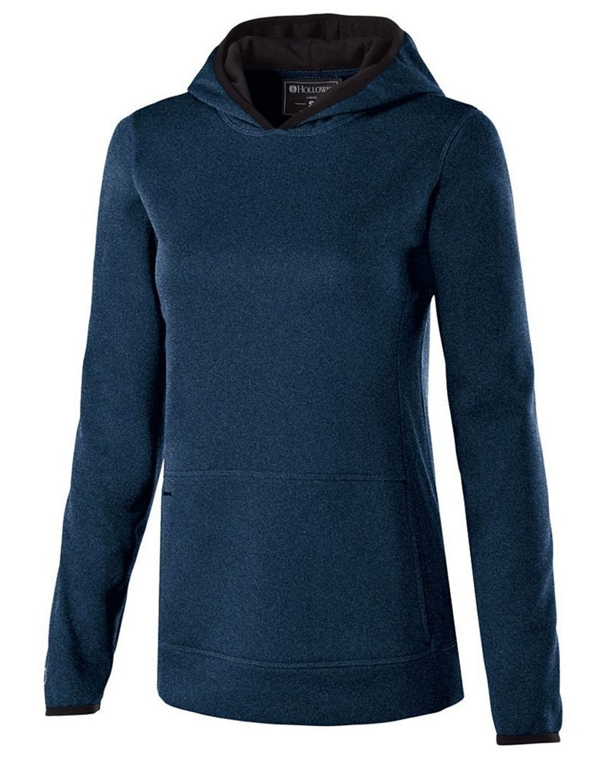 Holloway 229375 Ladies Polyester Fleece Hoodie - Navy Heather - M 229375