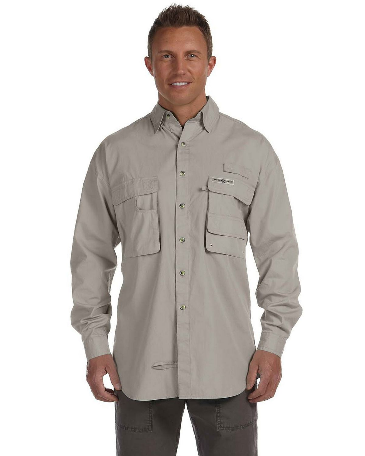 Hook & Tackle 1013L Men's Gulf Stream Long-Sleeve Fishing Shirt