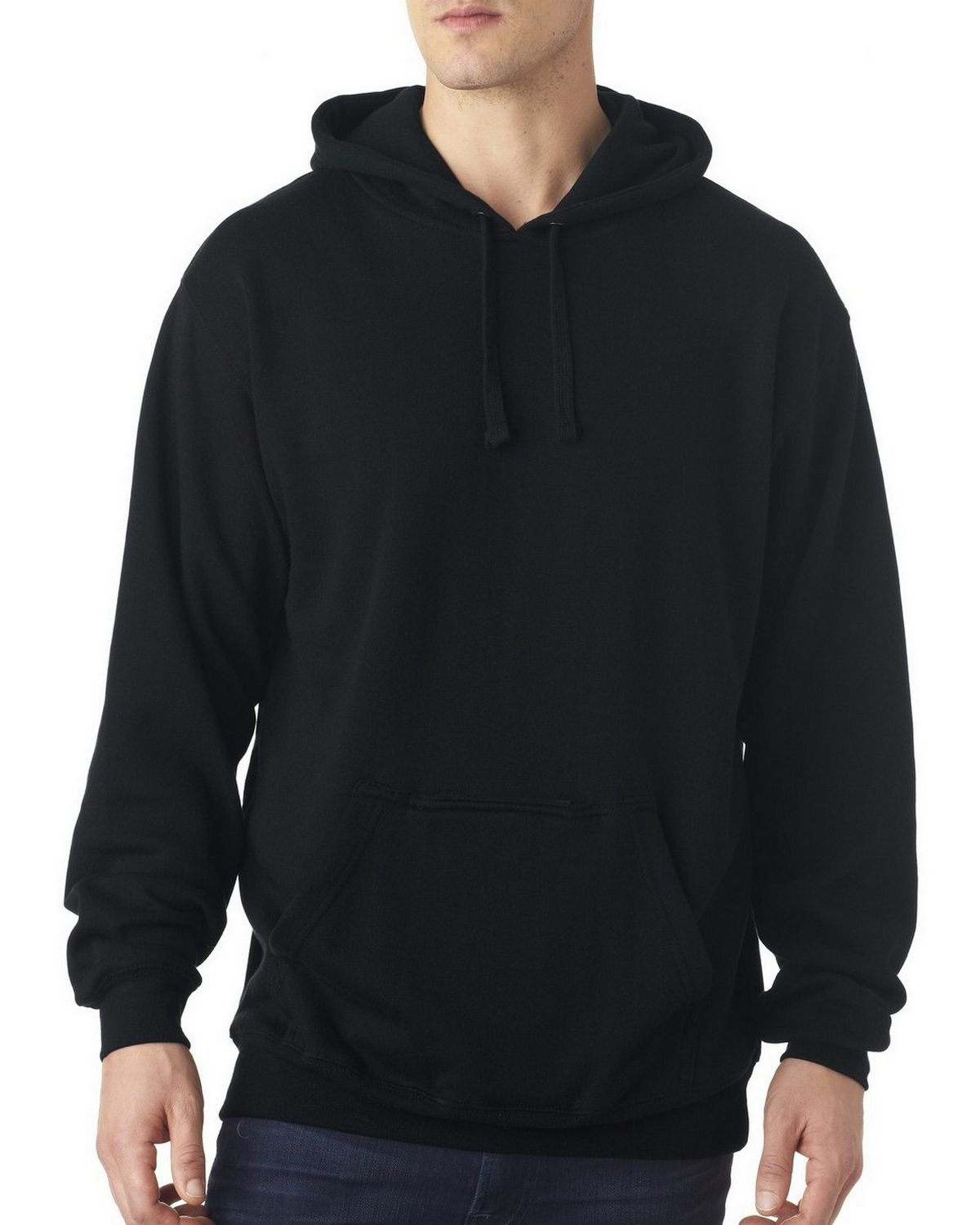 J America J8815 Blended Tailgate Hooded Sweatshirt - Navy - L J8815
