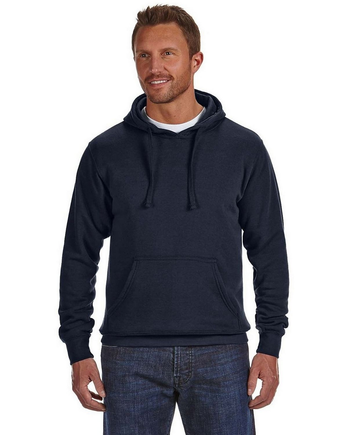 J America JA8620 Cloud Pullover Fleece Hood - Navy - S JA8620