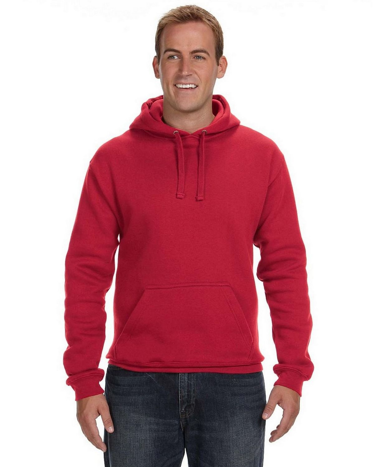 J America JA8824 Premium Fleece Pullover Hood - Charcoal Heather - M JA8824