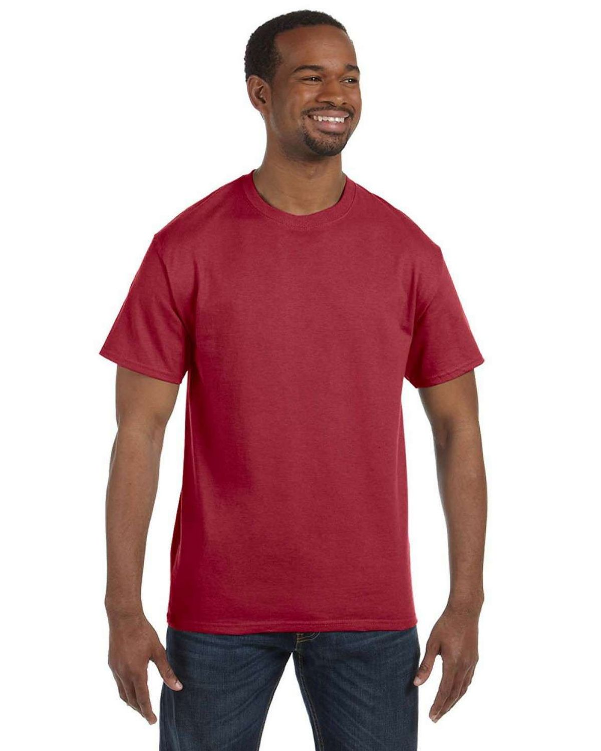 Jerzees 29 50/50 Adult Short-Sleeve Tee - Crimson - S 29