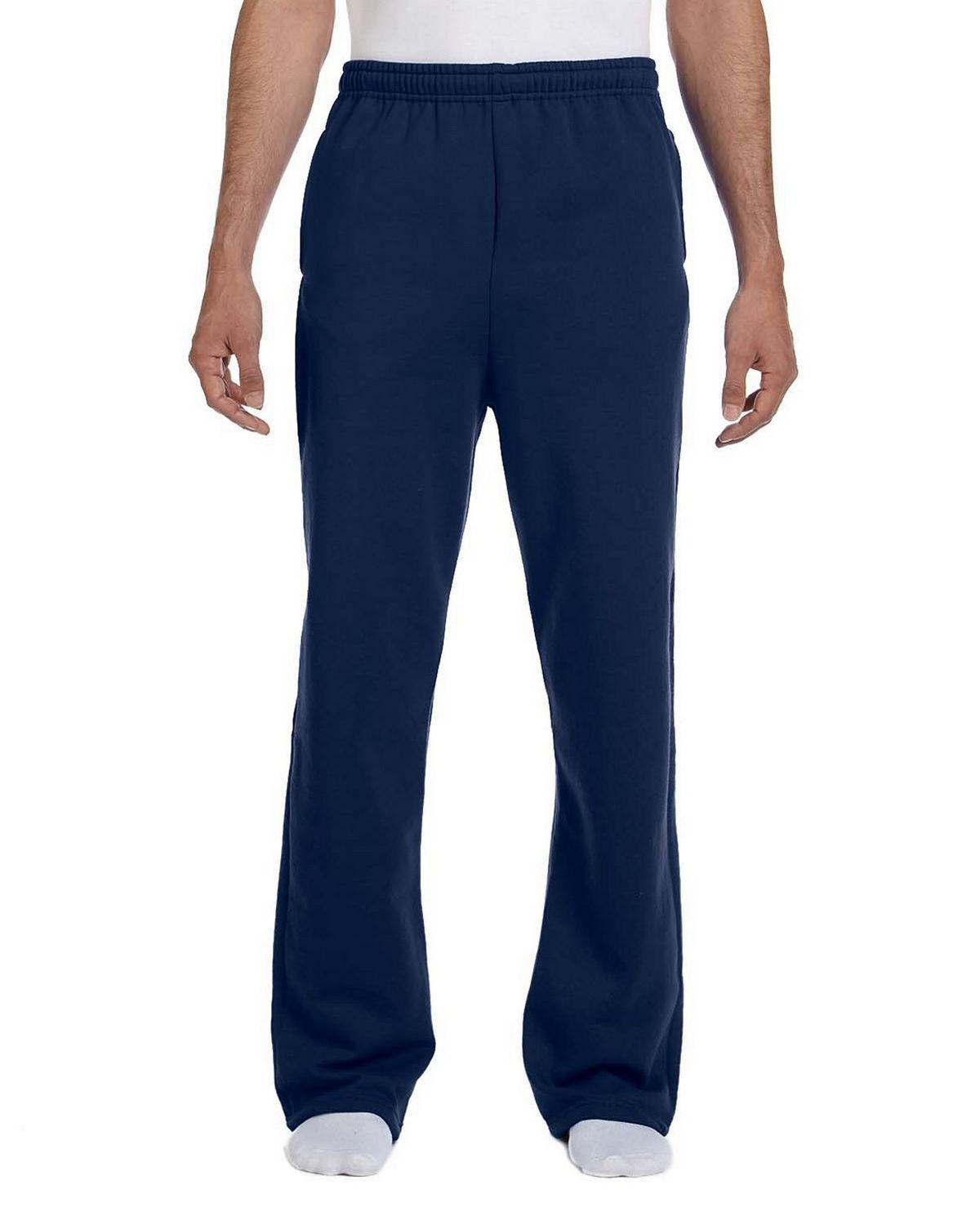 Jerzees 974 Open Bottom Pants - J Navy - M 974