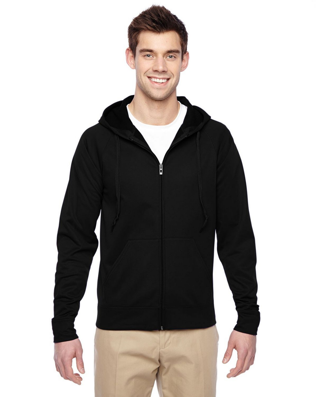 Jerzees PF93MR Fleece Full Zip Hoodie - Black - M PF93MR