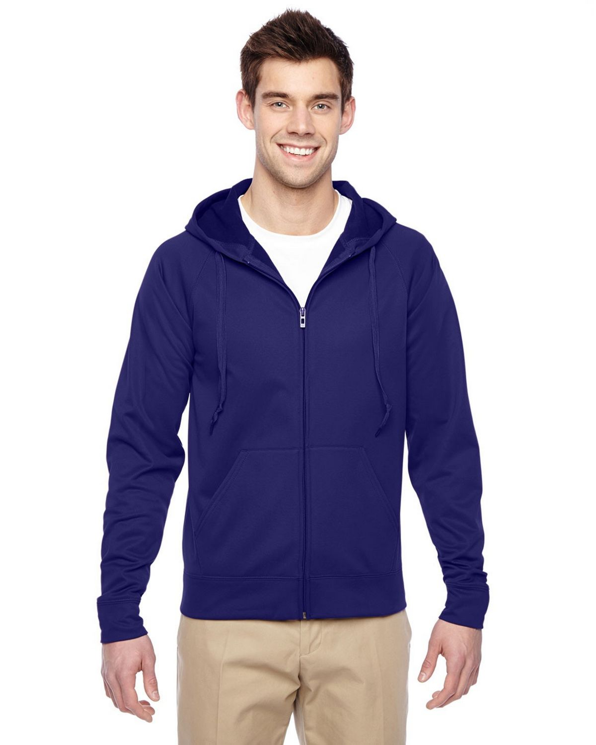 Jerzees PF93MR Fleece Full Zip Hoodie - Stealth - M PF93MR
