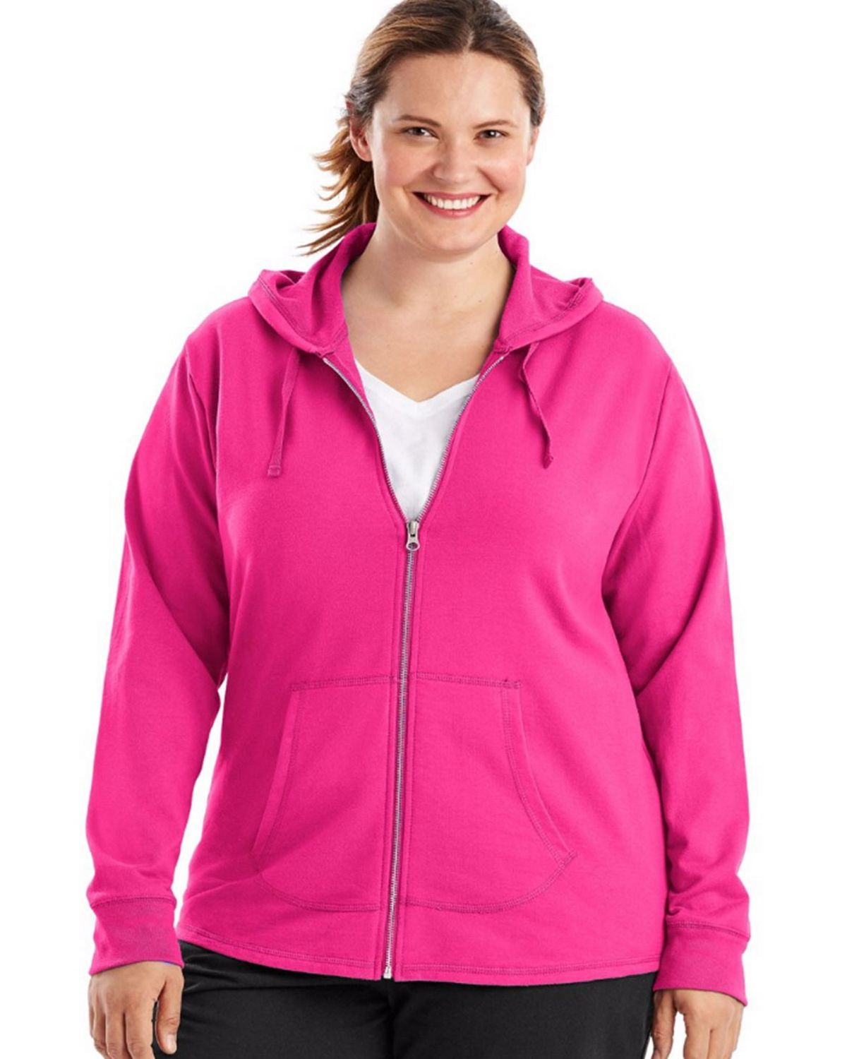 0b6ec295a03 Just My Size OJ243 French Terry Full-Zip Womens Hoodie