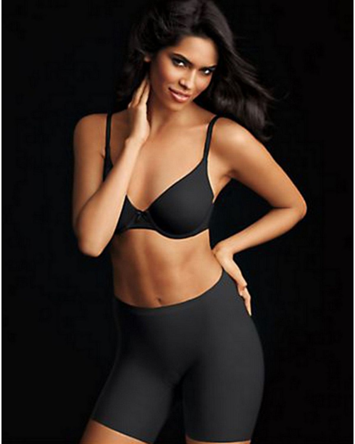 Maidenform 2060 Sleek Smoothers Shorty - Black - S 2060