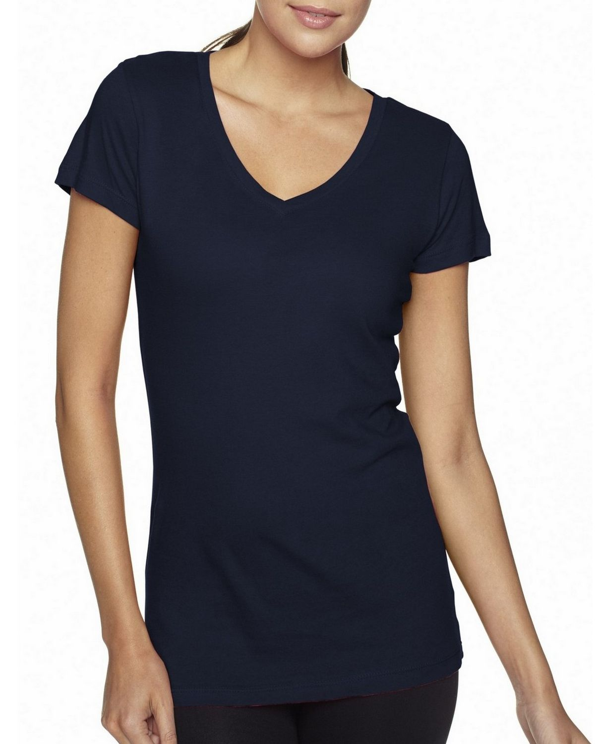 Next Level 3400L Sporty V-Neck Tee - Midnight Navy - XL 3400L