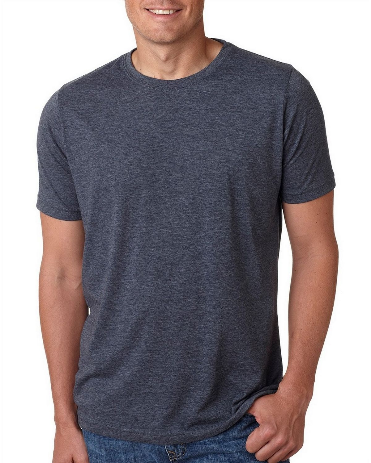 Next Level Mens Poly//Cotton Tee 6200-Antique Denim-Small 12 Pack