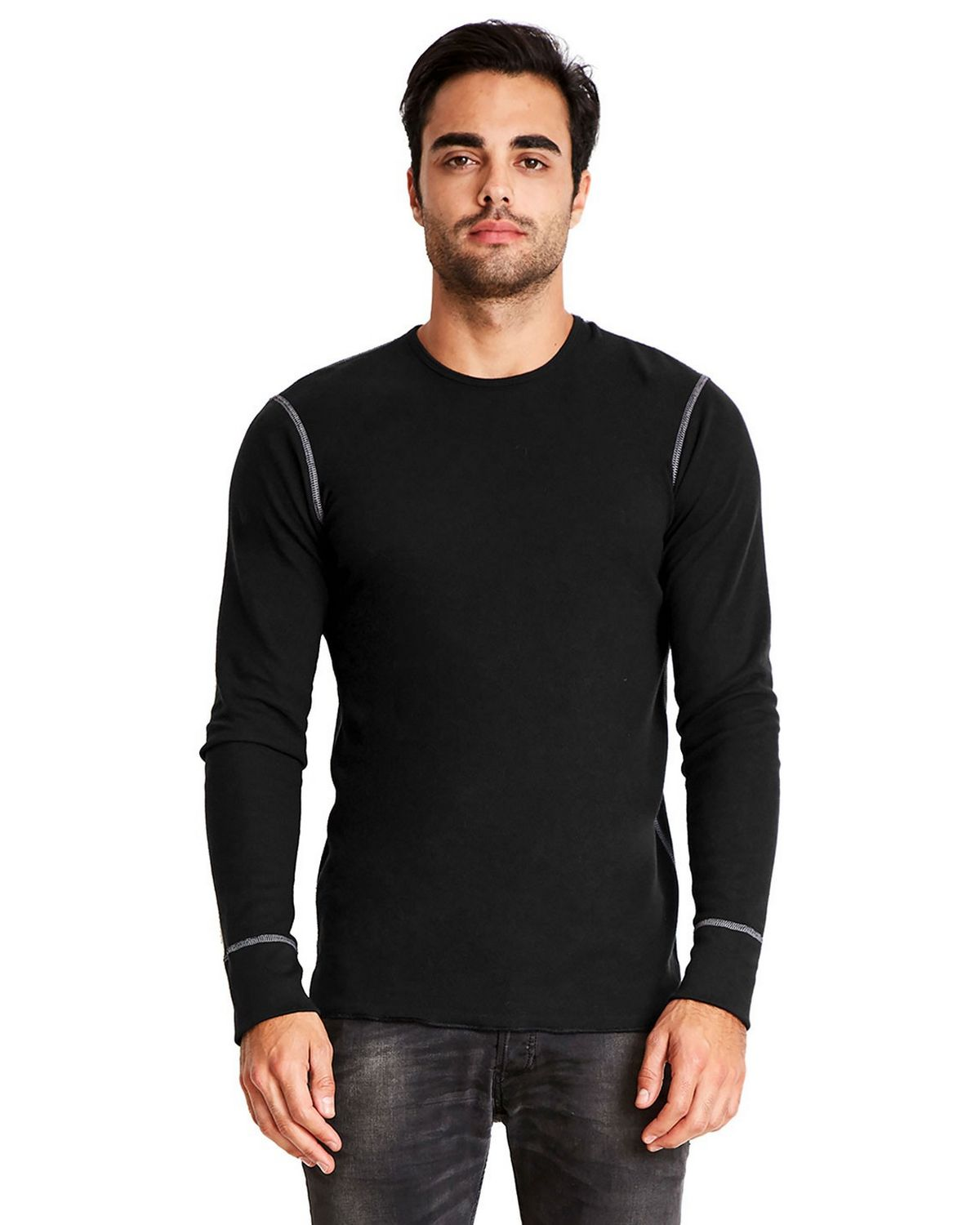 Next Level N8201 Unisex Long-Sleeve Thermal T-Shirt - ApparelnBags.com
