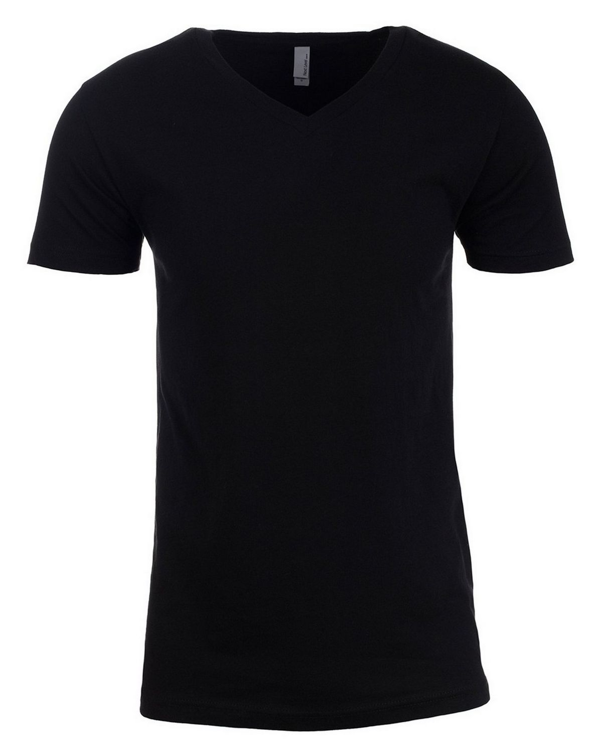 Next Level NL3200 Short Sleeve V-Neck Tee - Black - 2X NL3200