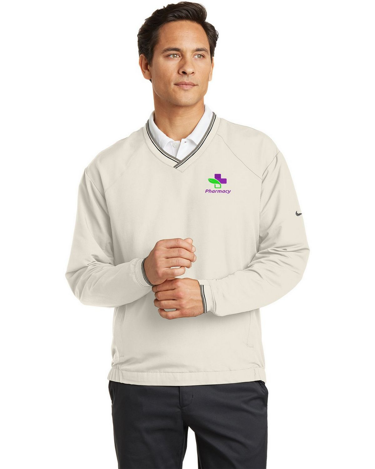 Buy Logo Embroidered Nike Golf 234180 V Neck Wind Shirt For Men