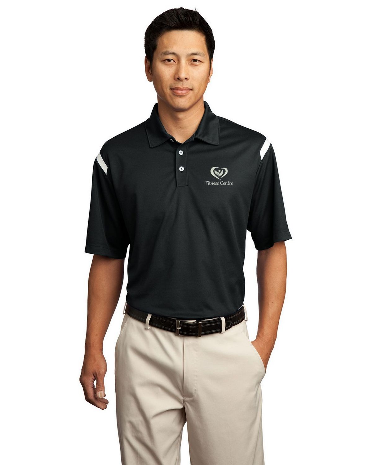 Buy Logo Embroidered Nike Golf 402394 Dri Fit Shoulder Stripe Polo
