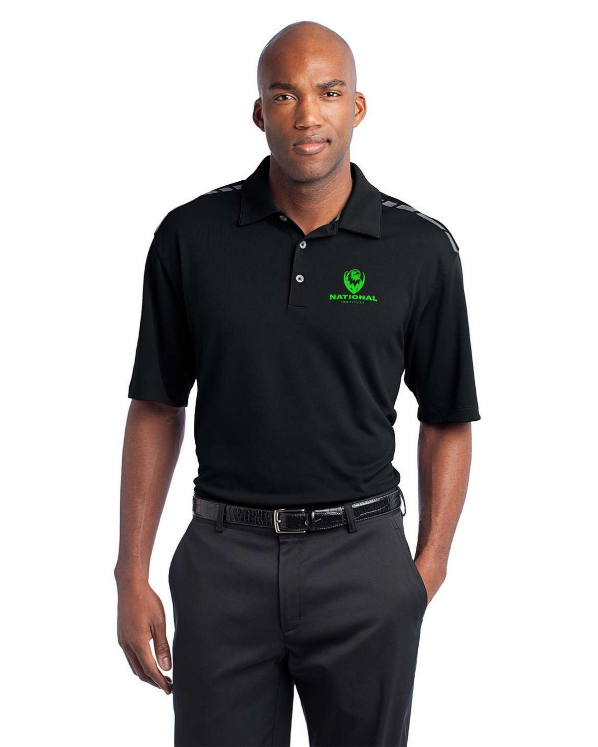 Buy Logo Embroidered Nike Golf 527807 Dri Fit Graphic Polo Shirt