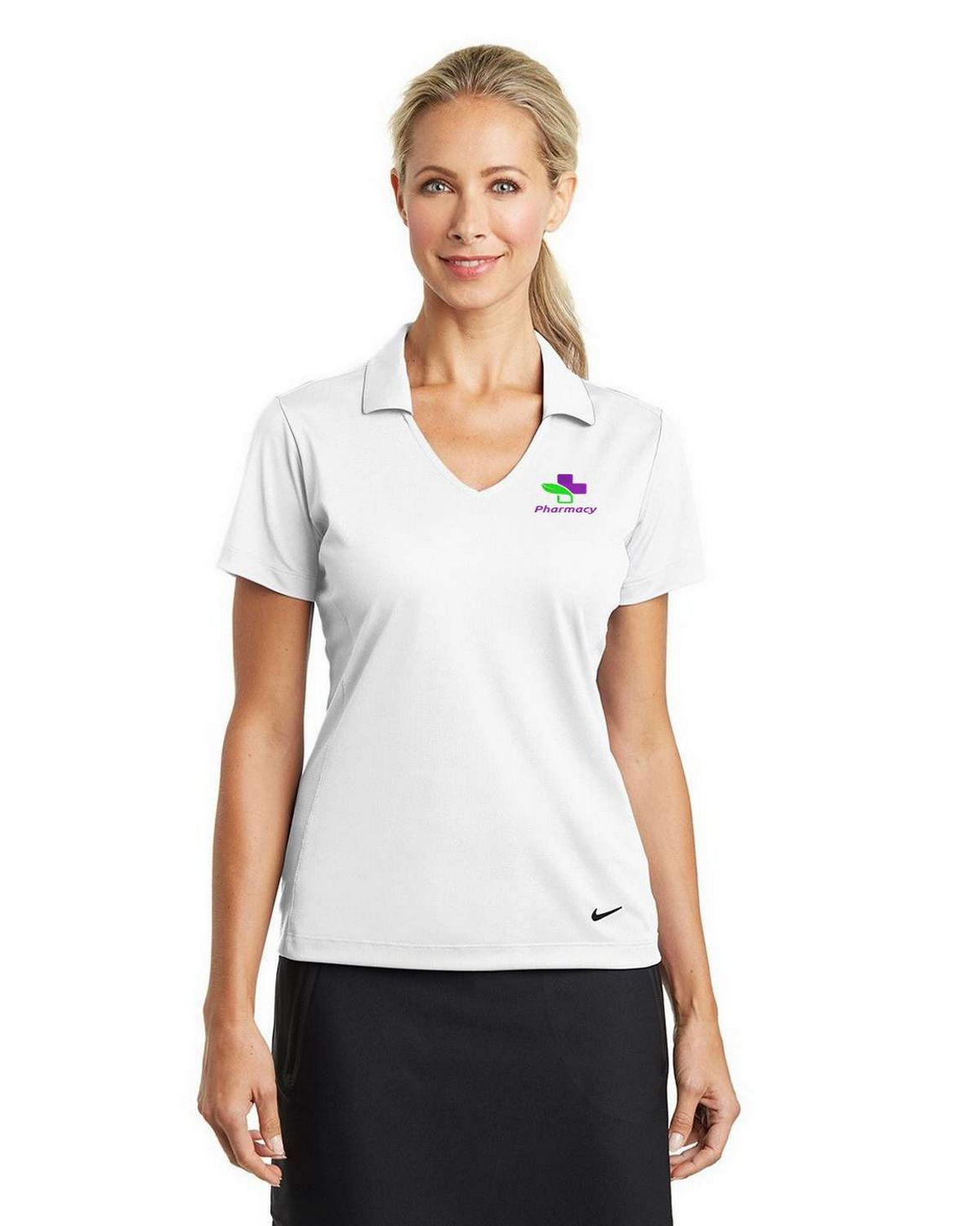 Buy Logo Embroidered Nike Golf 637165 Dri Fit Polo Shirt For Women