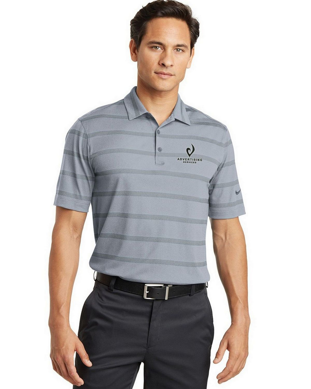 Nike golf dri fit logo embroidered polo size chart for Nike dri fit embroidered shirts