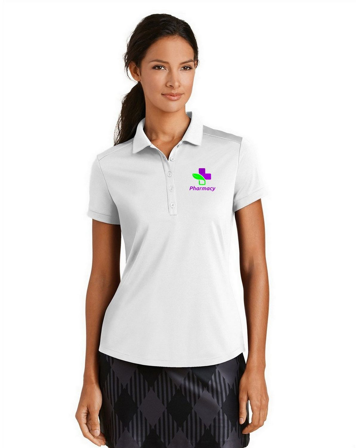 Nike golf dri fit logo embroidered performance polo at for Women s dri fit golf shirts