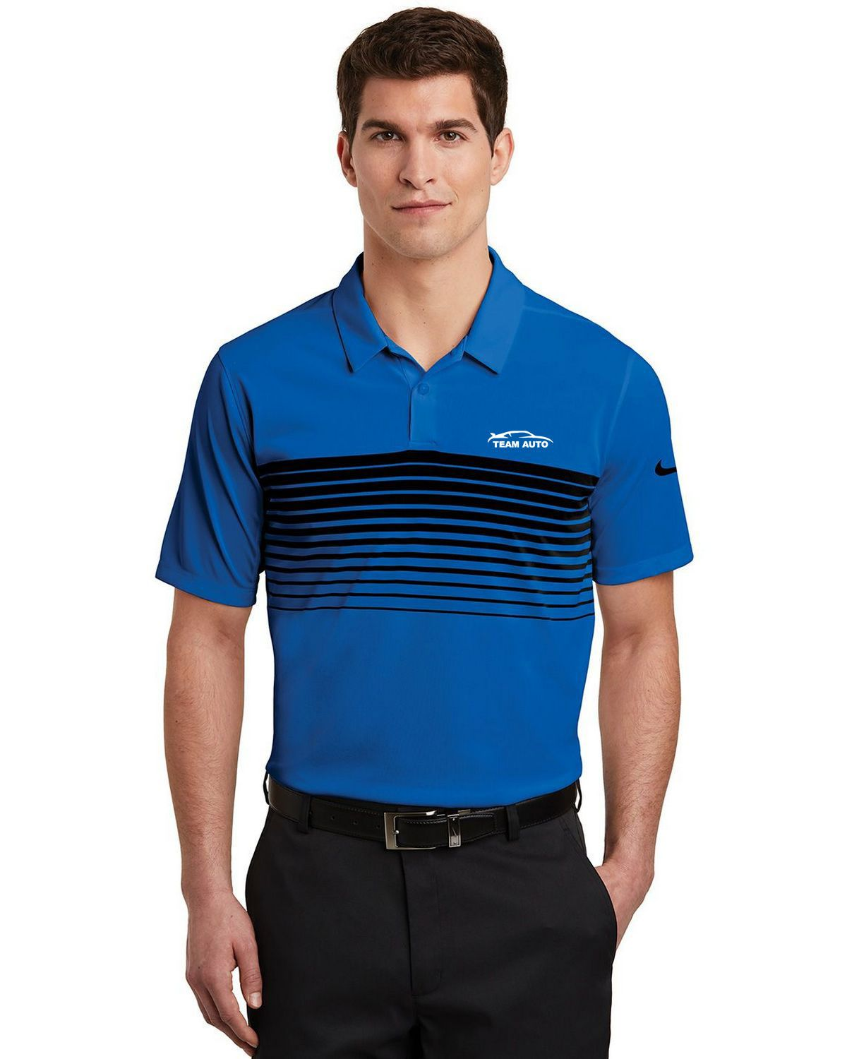 42b7e052ca Nike Golf NKAA1855 Men Nike Dri-FIT Chest Stripe Polo