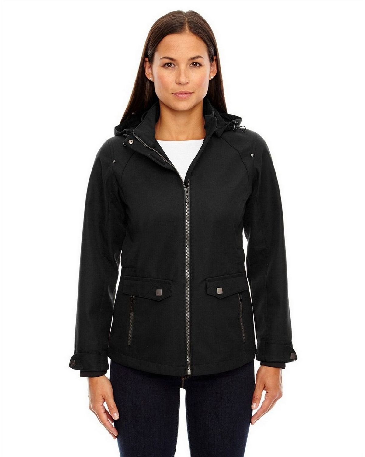 North End Sport Blue 78672 Ladies Jacket - Black - XS 78672