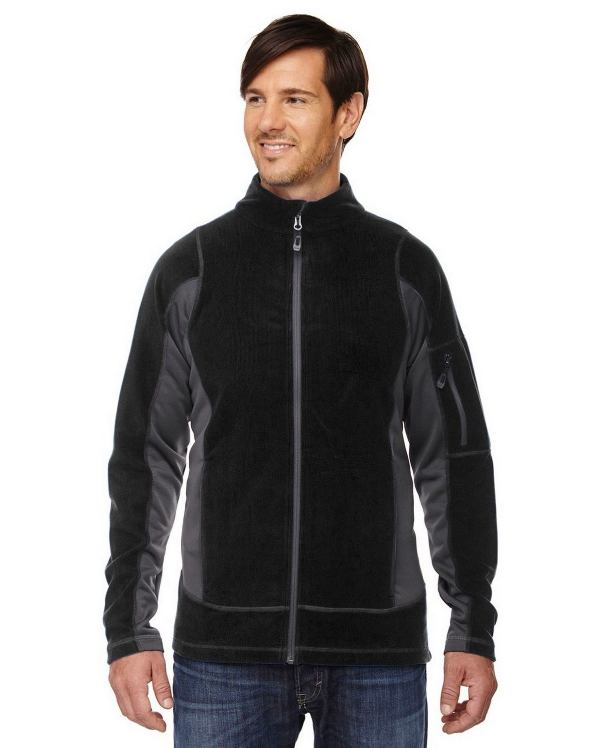 North End 88198 Generate Mens Jacket - Black - L 88198