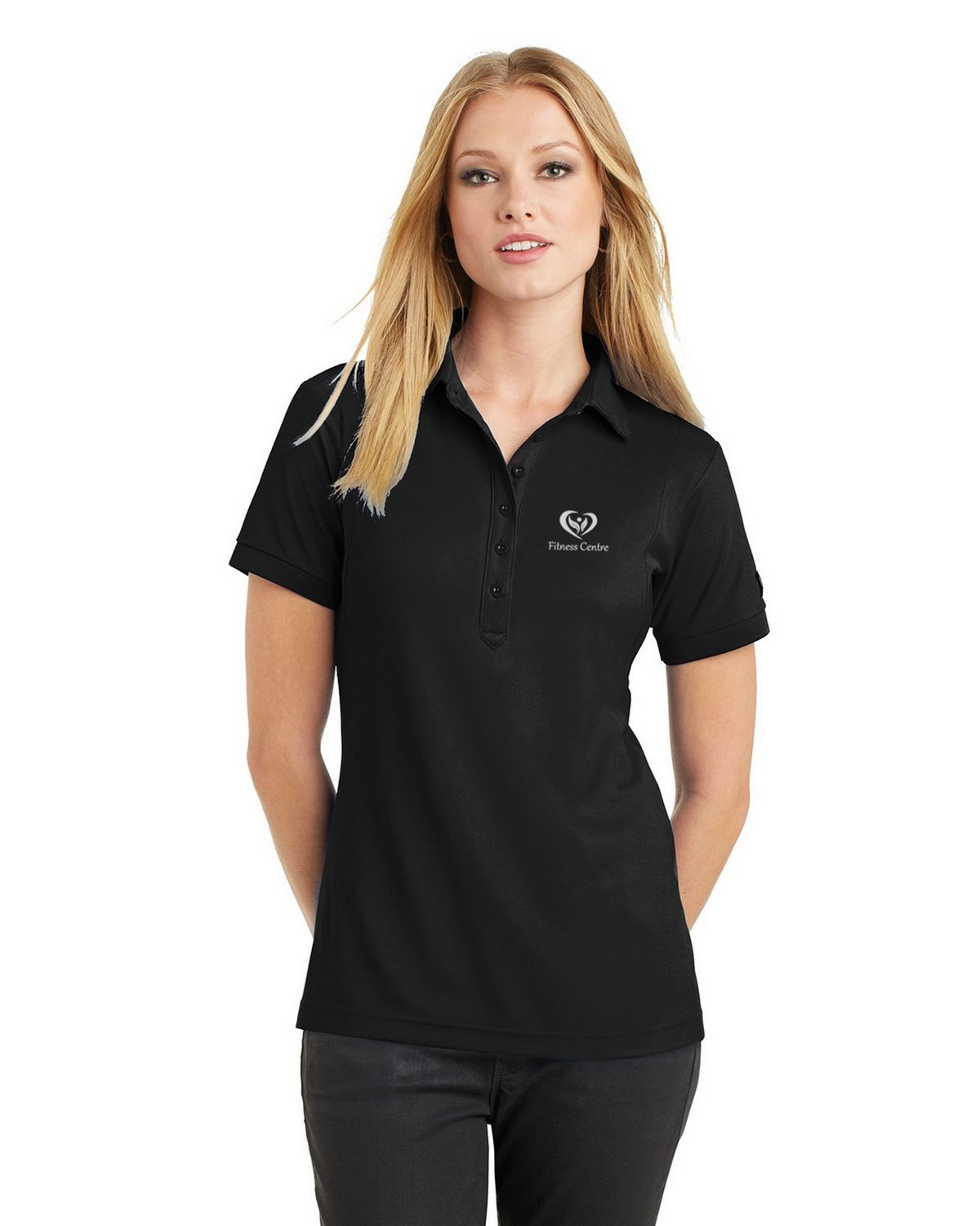 Size Chart For Ogio Logo Embroidered Jewel Polo Shirt For Women
